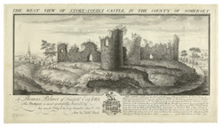 The West View of Stoke Courci Castle. In the county of Somerset